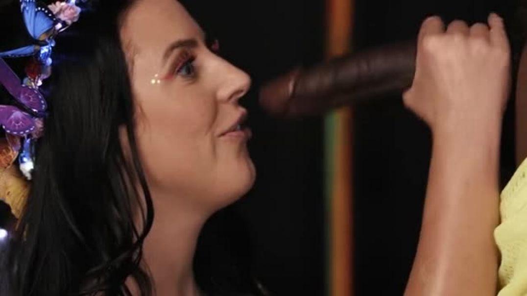 Interracial Fairy pulls out a big black dick