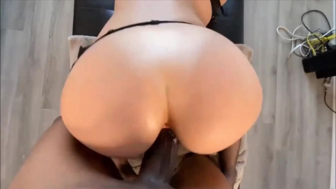 Awesome beautiful girl fucks a huge black cock.