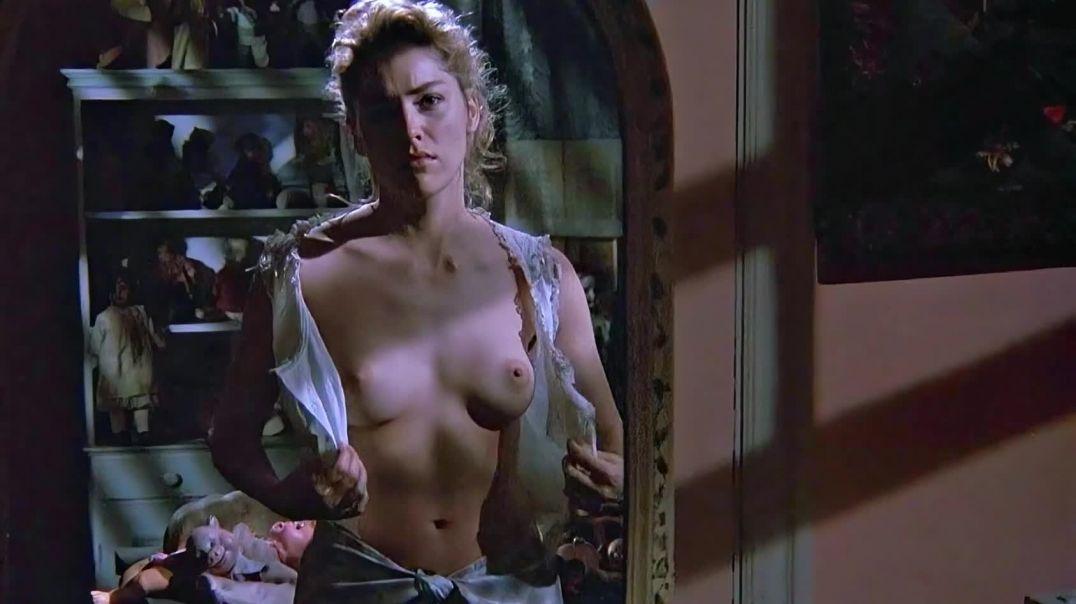 Sharon Stone topless in Scissors