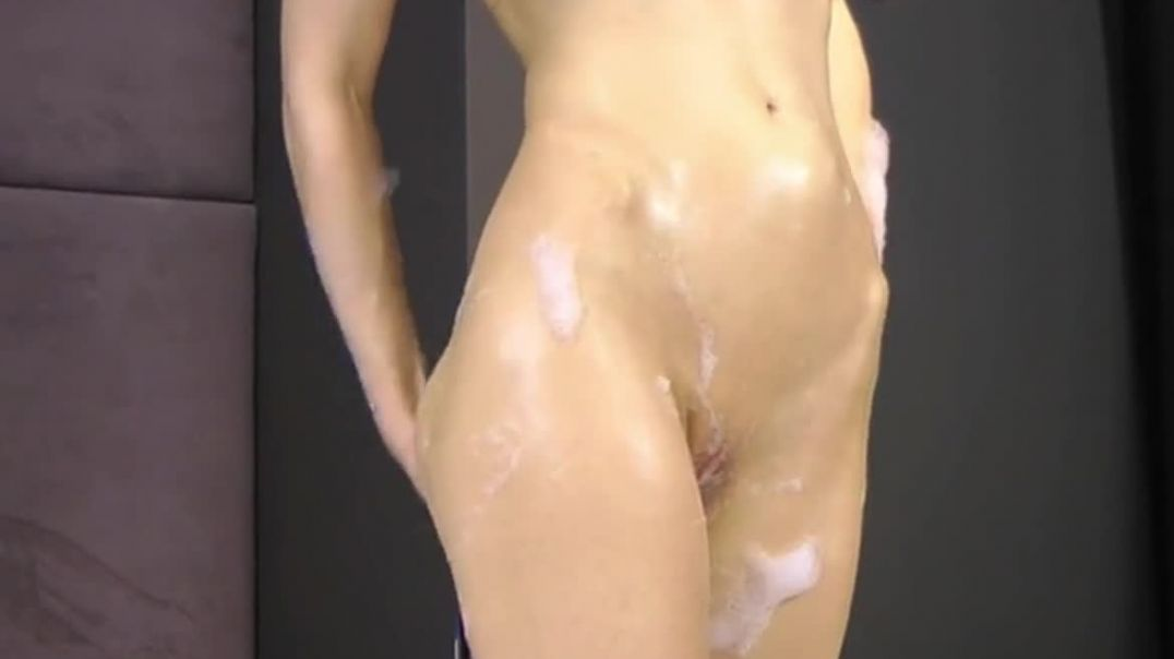 Anal dildo coming out of her stomach