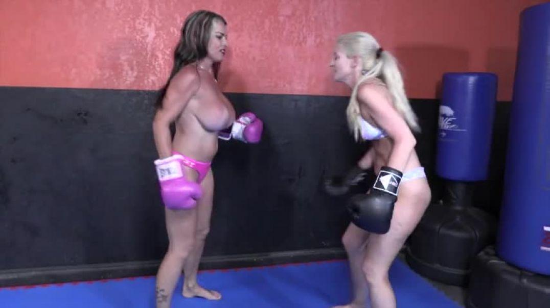 Fun bags boxing match